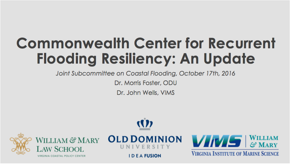 CCRFR Update Presentation 10-17-2016