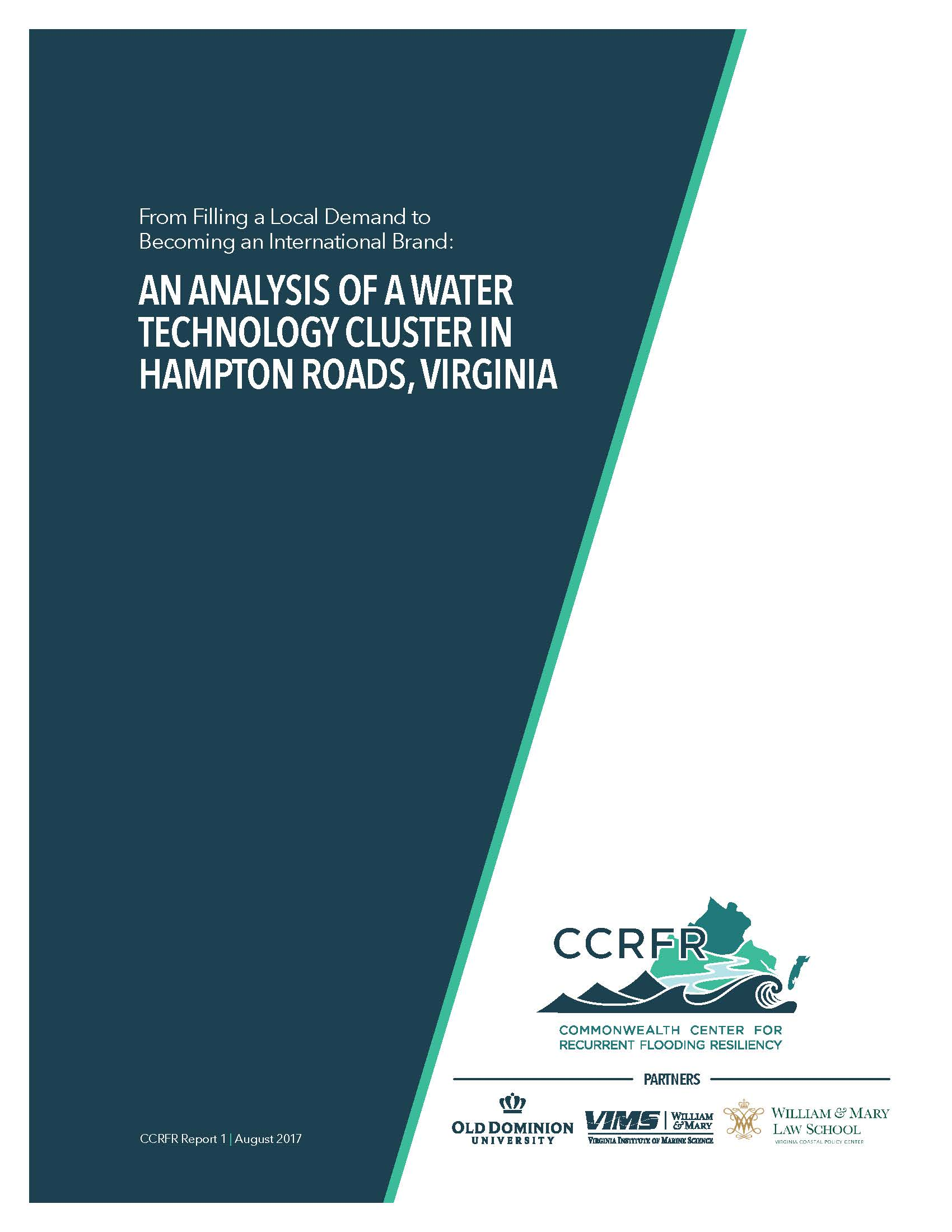 An Analysis of Water Technology Cluster in Hampton Roads, Virginia