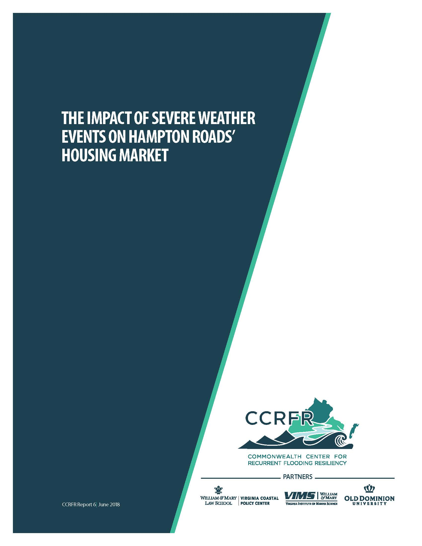 CCRFR- Housing Studies White Paper- Cover Page