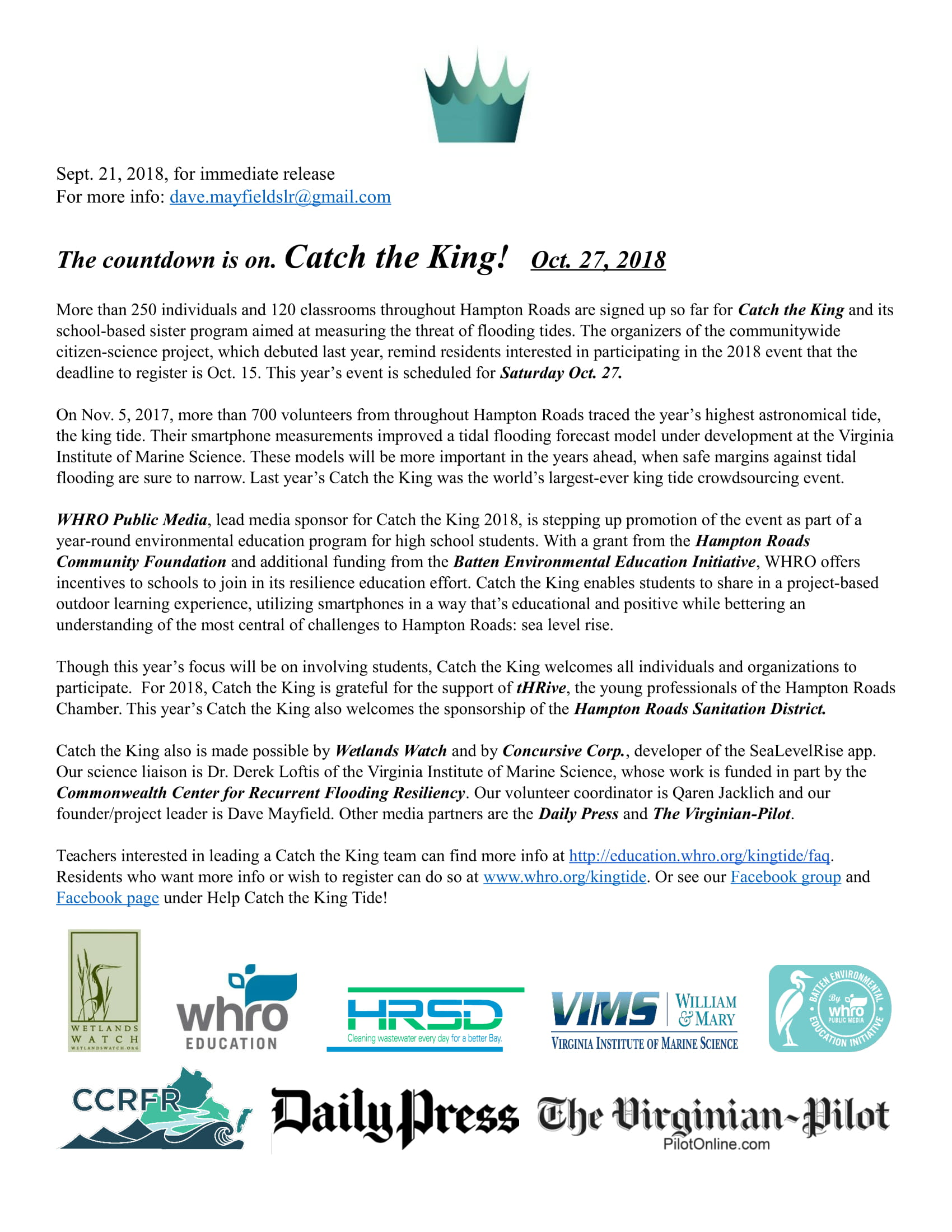 Catch the King Sept. 21 news release-1