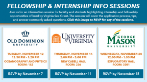 Virginia Sea Grant 2019 Informational Session