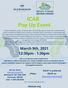 ICAR Pop Up Event: Subsidence Research Discussion